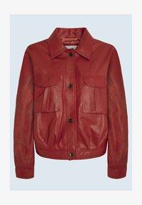 LENA - Giacca di pelle - tibetan red