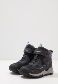 Geox - TERAM BOY ABX - Śniegowce - navy/dark red - 3