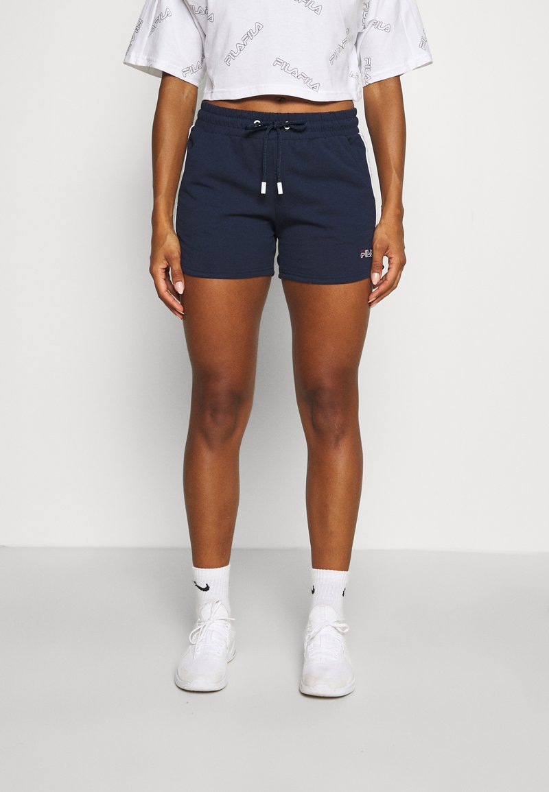 Fila - JADIANA TAPED SHORTS - Pantalón corto de deporte - black iris