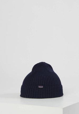 Beanie - mottled dark blue