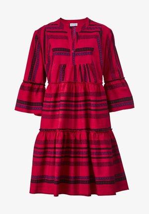 Day dress - rot/lila/schwarz