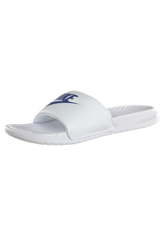 BENASSI JDI - Pool slides - whire/varsity royal-white