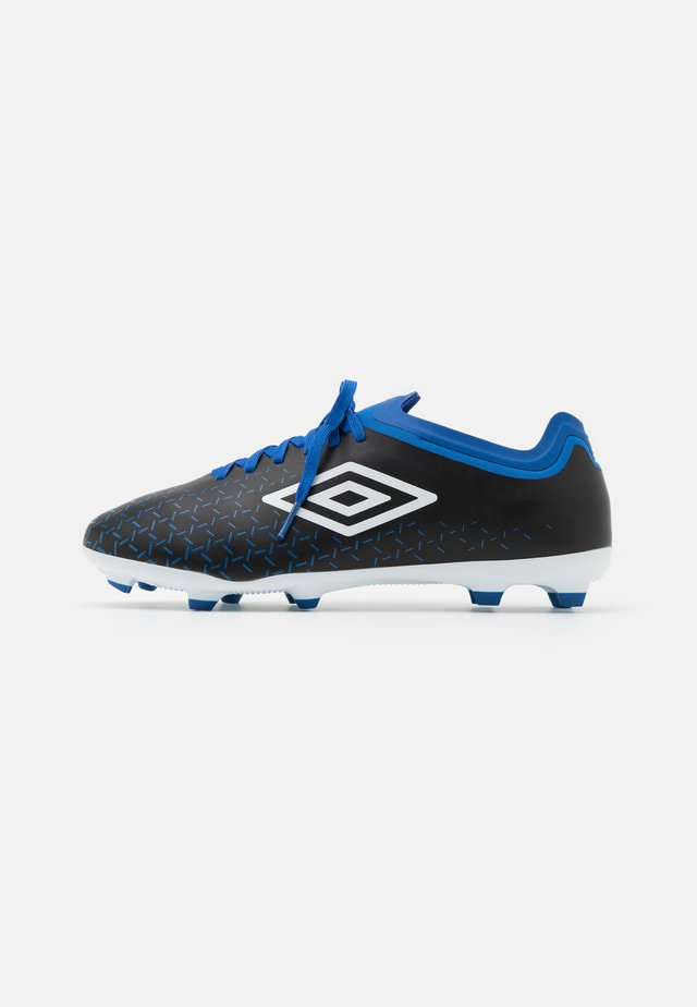 VELOCITA V PREMIER FG - Moulded stud football boots - black/white/victoria blue