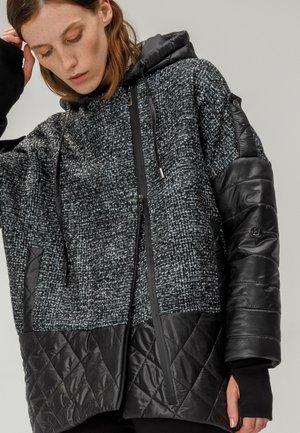 Short coat - schwarz grun