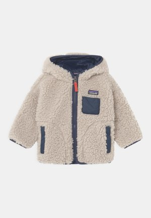 BABY RETRO HOODY UNISEX - Fleece jacket - natural/new navy