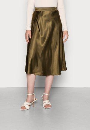 VMXARA CALF - A-line skirt - dark olive