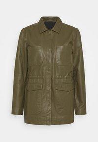 Soft Rebels - SRMATHILDA JACKET - Leather jacket - dark olive - 6