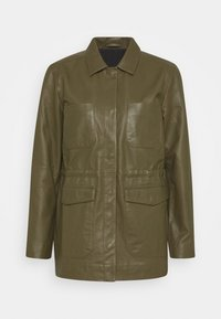 SRMATHILDA JACKET - Leather jacket - dark olive