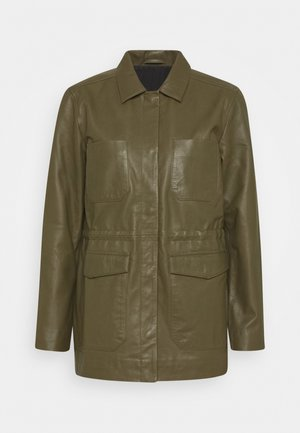 SRMATHILDA JACKET - Leather jacket - dark olive