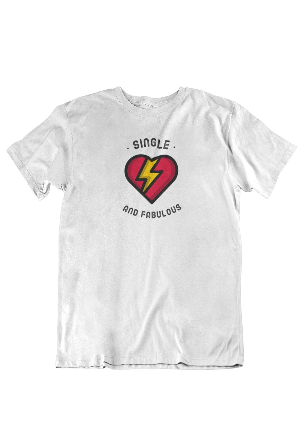 Herren SINGLE AND FABULOUS - T-Shirt print