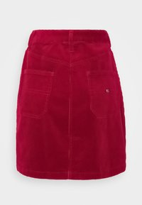 Tommy Jeans - BUTTON SKIRT - Mini skirt - wine red - 1