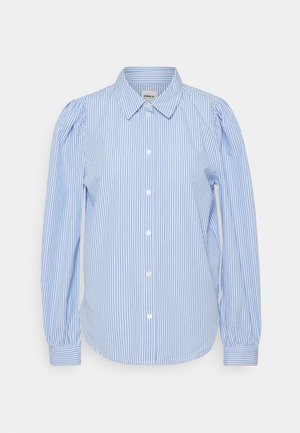 ONLBETTY  LIFE  SLIM  - Button-down blouse - white/blue