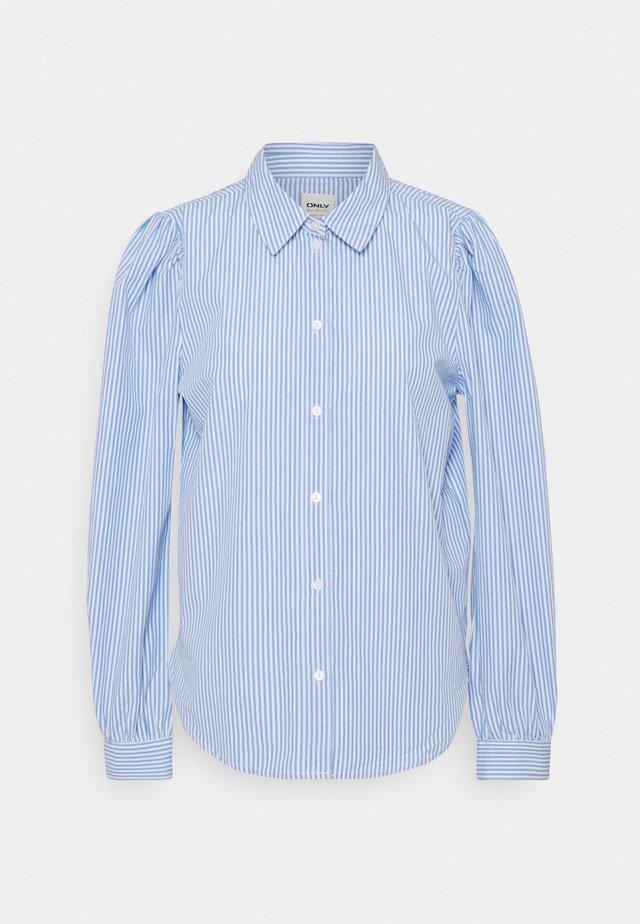 ONLBETTY  LIFE  SLIM  - Button-down blouse - white/blue