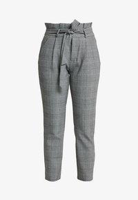 Vero Moda Petite - PAPER BAG CHECK PANT - Kalhoty - grey/white - 4