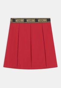 MOSCHINO - SKIRT - Mini skirt - flame red - 0