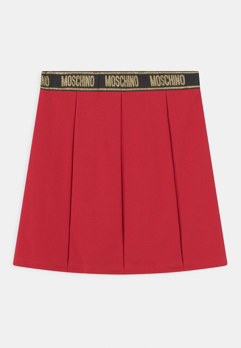 MOSCHINO - SKIRT - Mini skirt - flame red