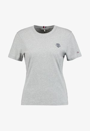 ESSENTIAL EMBROIDERY TEE - Print T-shirt - grey