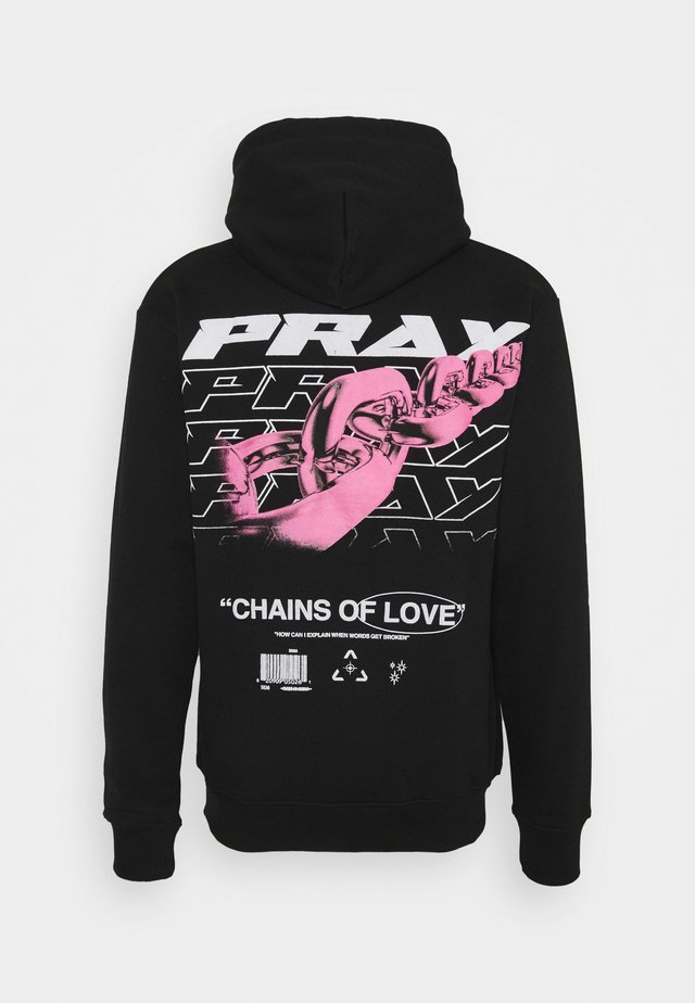 CHAIN OF LOVE HOODY UNISEX - Collegepaita - black