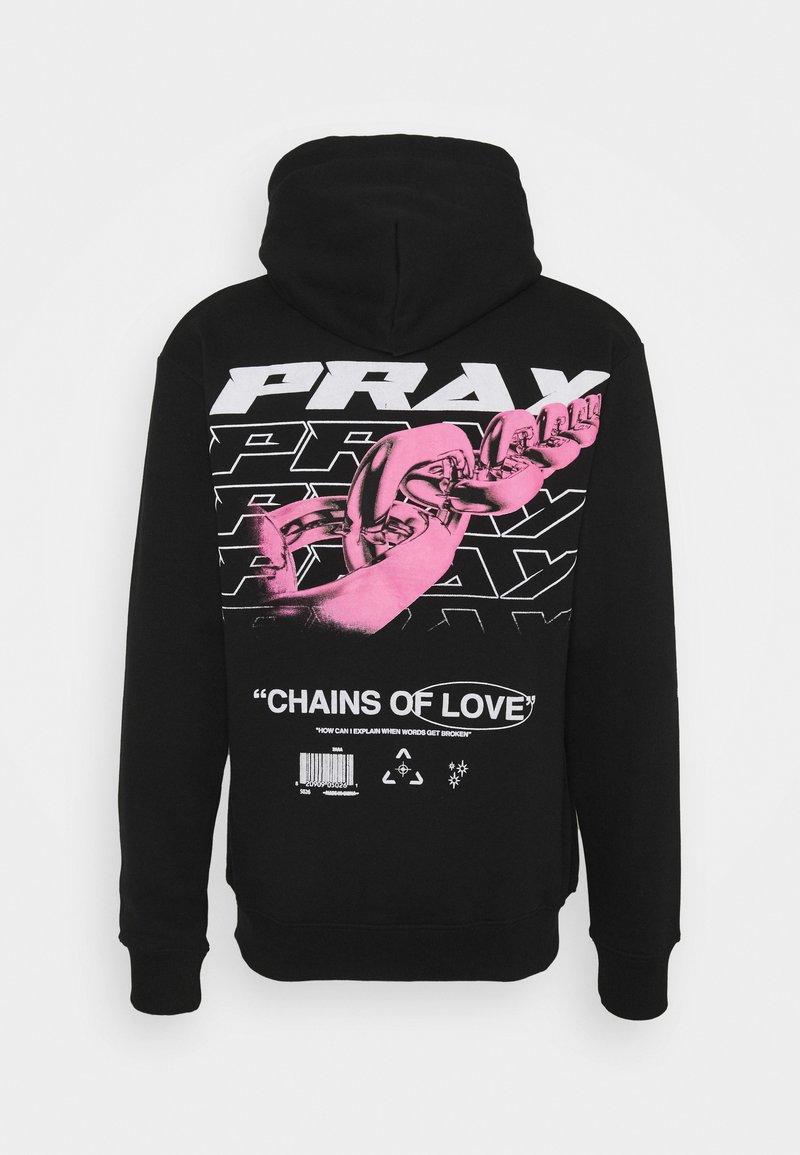 PRAY - CHAIN OF LOVE HOODY UNISEX - Sweatshirt - black