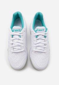 ASICS - GEL DEDICATE 6 INDOOR - Carpet court tennis shoes - white/techno cyan - 3