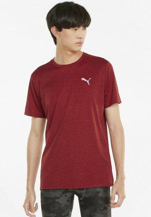 RUN FAVORITE HEATHER TEE - Basic T-shirt - intense red heather