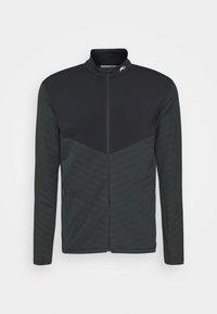 Kjus - MEN DAVID MIDLAYER JACKET - Fleece jacket - dark jet green/black - 0