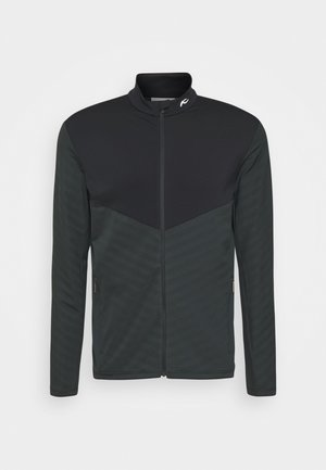 MEN DAVID MIDLAYER JACKET - Fleecová bunda - dark jet green/black