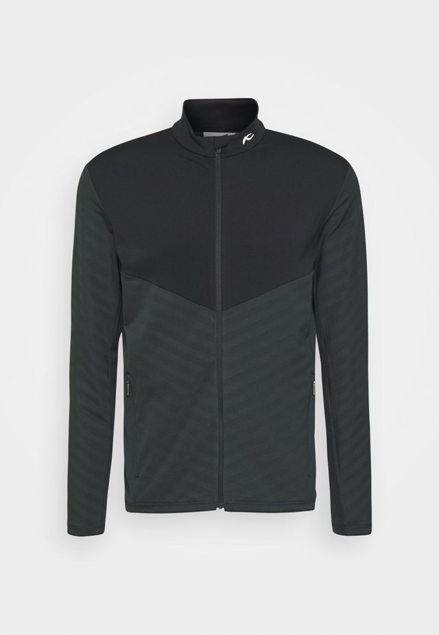MEN DAVID MIDLAYER JACKET - Fleecejas - dark jet green/black