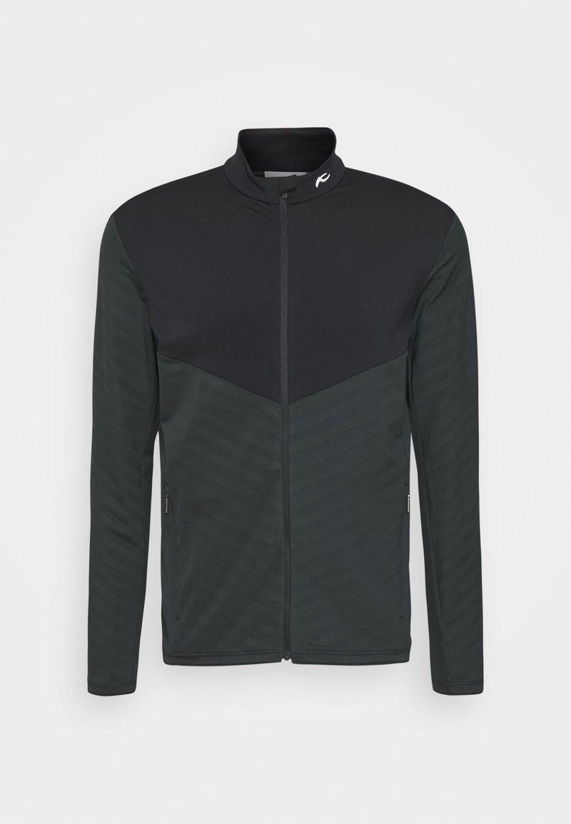 Kjus - MEN DAVID MIDLAYER JACKET - Fleece jacket - dark jet green/black