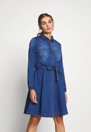 ONLLIVIA DRESS - Denim dress - medium blue denim