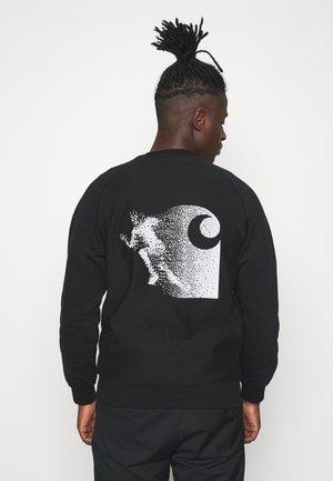 WARP - Sweatshirt - black/reflective grey