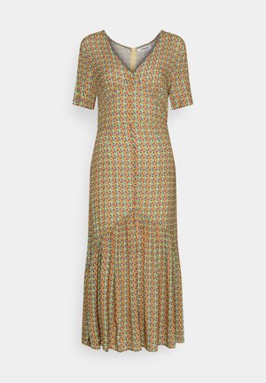 VNECK SHORT SLEEVE MIDI DRESS - Day dress - multi-coloured