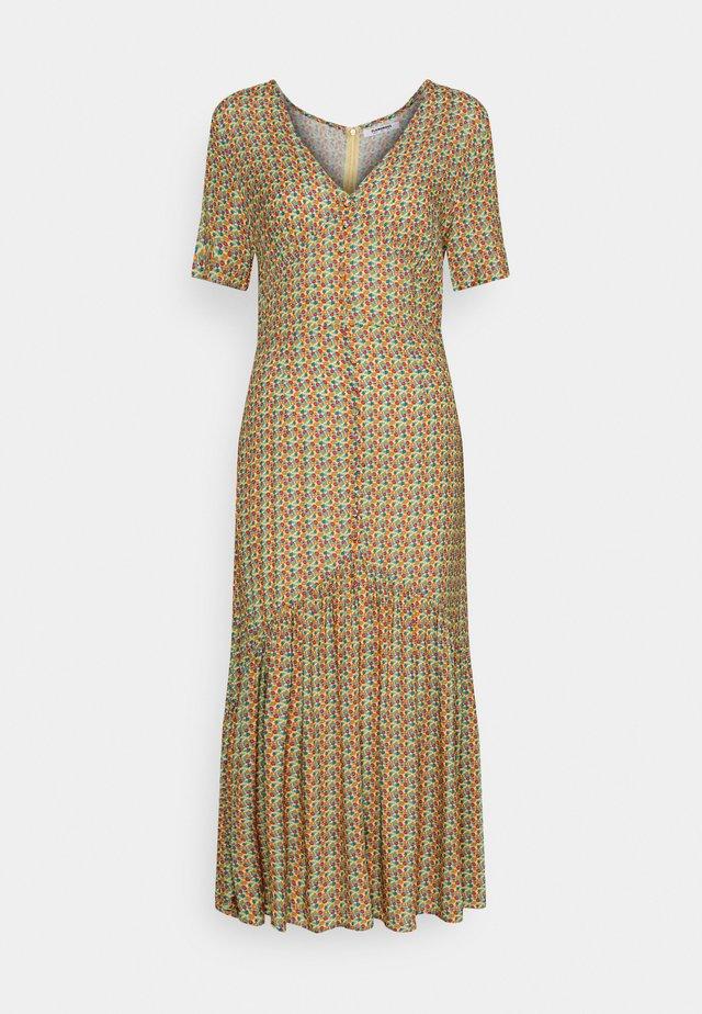 VNECK SHORT SLEEVE MIDI DRESS - Korte jurk - multi-coloured