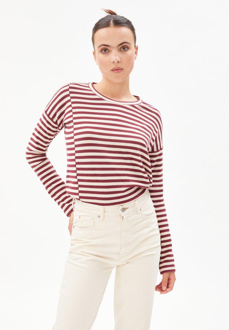 ARMEDANGELS - PALINAA  - Long sleeved top - kitt-ruby red