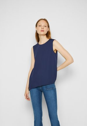 PLEAT TOP SPRING - Top - blue