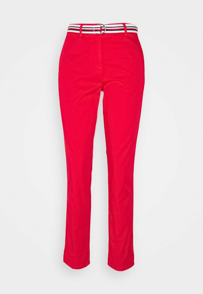 Tommy Hilfiger - CHINO SLIM PANT - Chinos - primary red