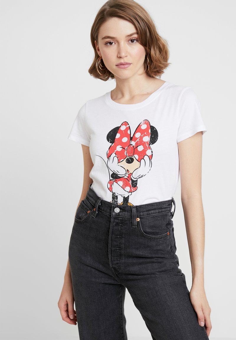 ONLY - ONLMICKEY VINTAGE - T-shirts med print - white
