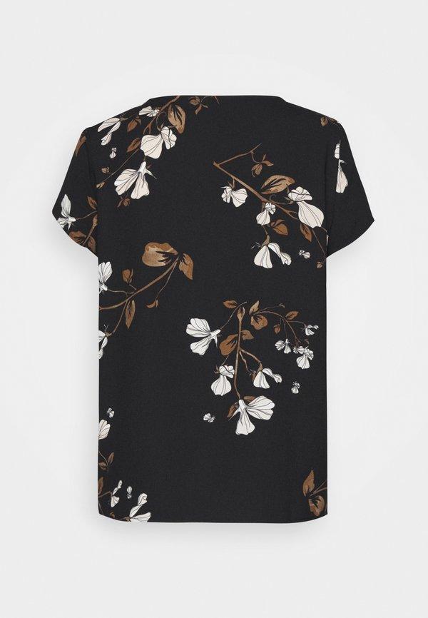 Vero Moda Petite VMANNIE TOP PETITE - Bluzka - black W kwiatki Odzież Damska WLIZ FF 6