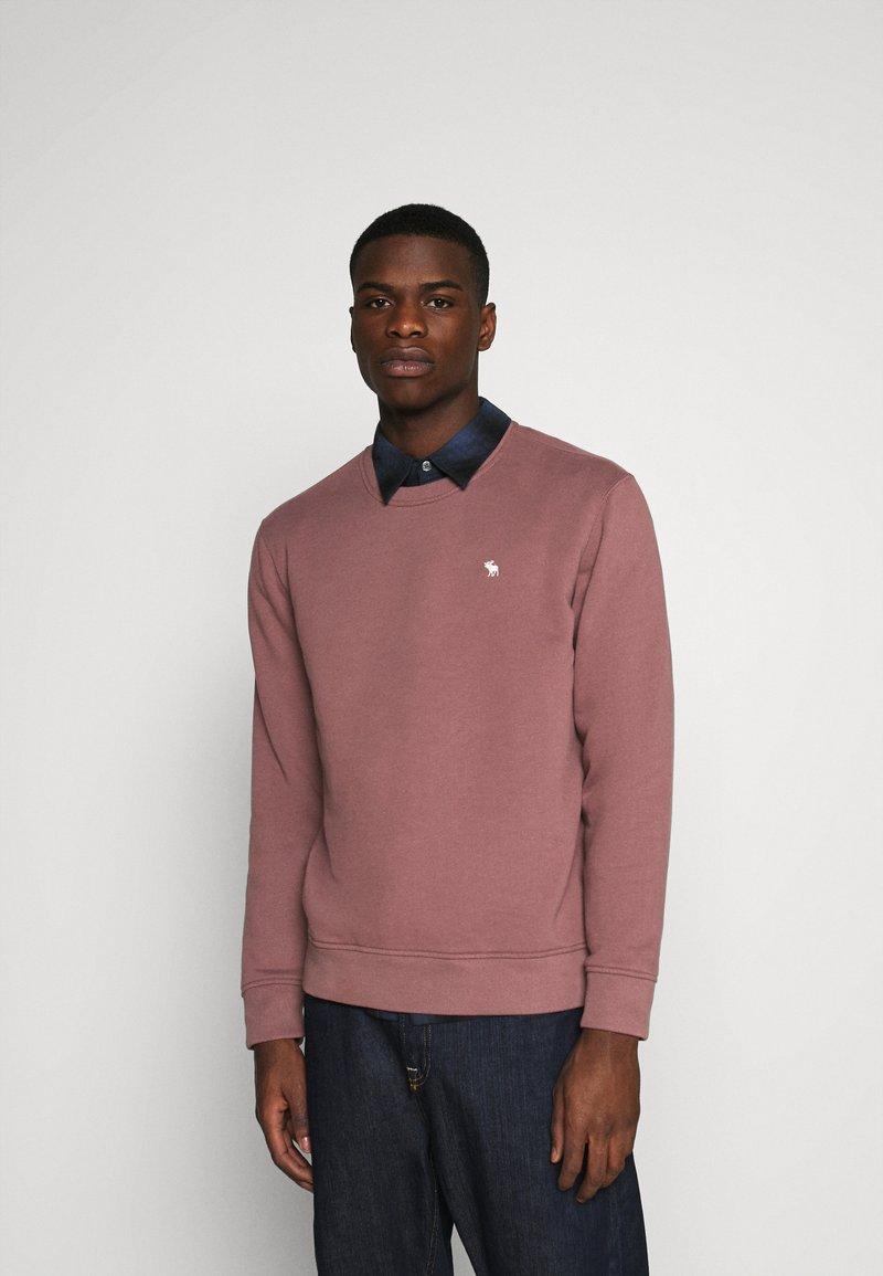 Abercrombie & Fitch - ICON CREW - Sweatshirt - burgundy