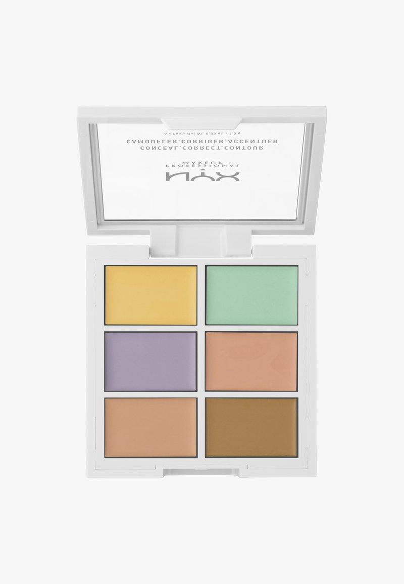 Nyx Professional Makeup - 3C PALETTE CONCEAL,CORRECT,CONTOUR - Palette pour le visage - 4 correcting