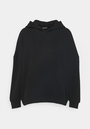 LONG OVERSIZED HOODIE - Hoodie - black