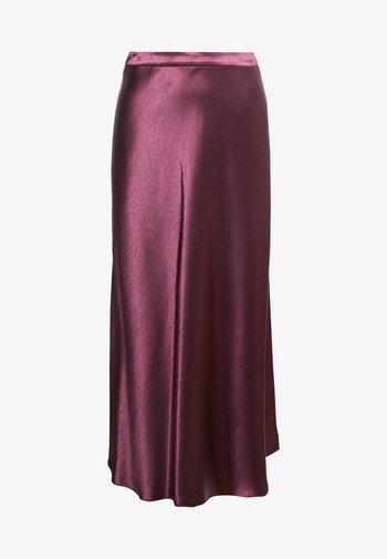 RACELA - A-line skirt - medium red