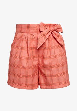 TAILORED TIE WAIST SHORT - Shorts - orange