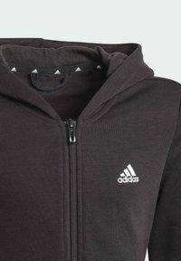 adidas Performance - ESSENTIALS - Zip-up sweatshirt - black - 2