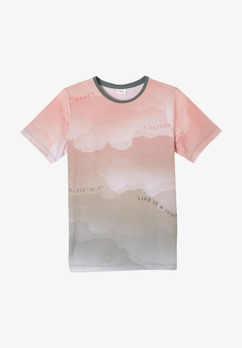 Print T-shirt - orange aop