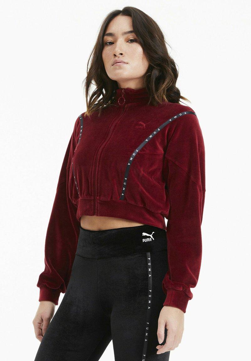 Puma - Zip-up hoodie - pomegranate