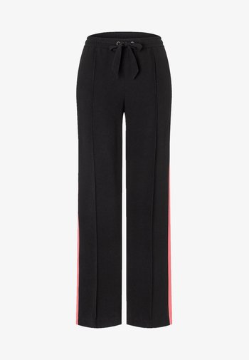 Trousers - black/coral