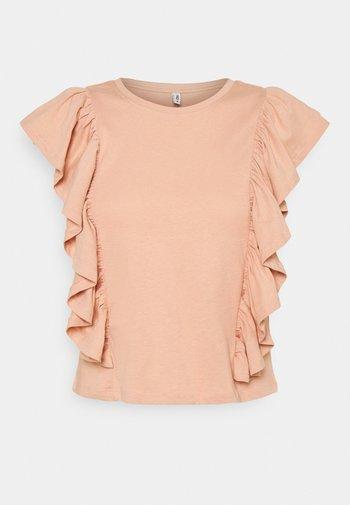 ONLJULLA FRILL - Print T-shirt - misty rose