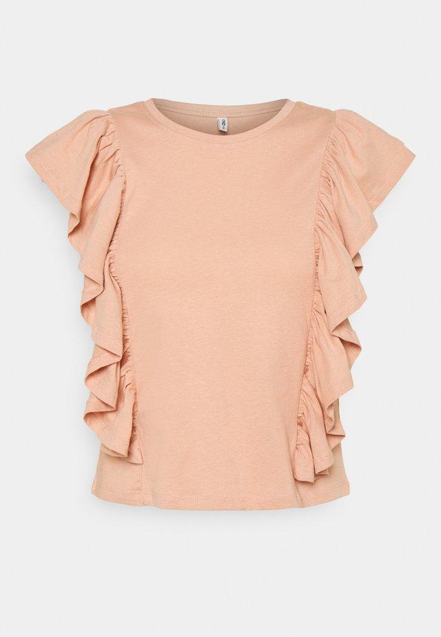 ONLJULLA FRILL - T-shirt con stampa - misty rose
