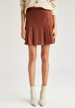 Pleated skirt - brown